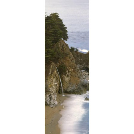 Rocks on the Beach, McWay Falls, Julia Pfeiffer Burns State Park, Monterey County, Big Sur, Cali... Print Wall (Julia Pfeiffer Burns State Park Big Sur)