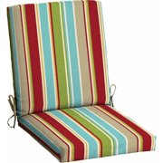 Mainstays Outdoor Patio Dining Chair Cushion, Red Tropical