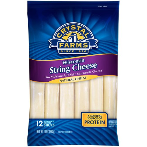 Crystal Farms Wisconsin String Cheese, 10 oz, 12 count