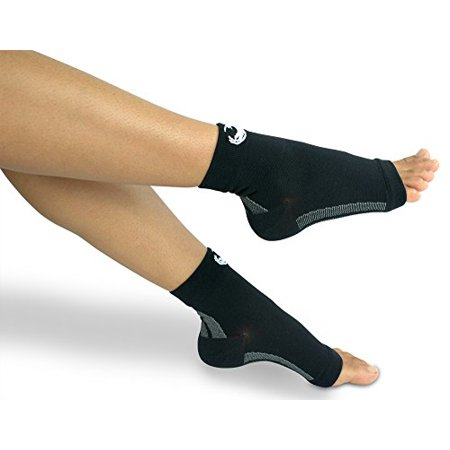 Foot Compression Sleeves - (1 Pair) Ankle Sleeve Socks - Faster Recovery - Small