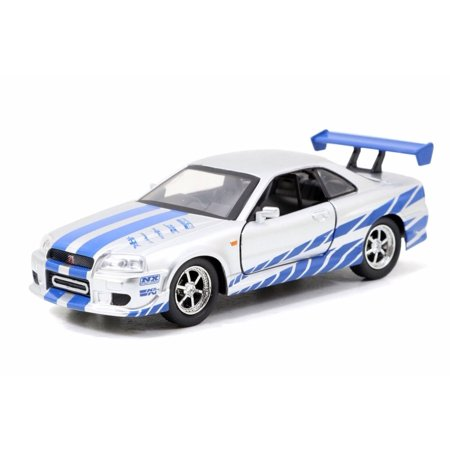 2002 Nissan Skyline GTR R34, Fast and Furious - Jada 98674DP5 - 1/32 scale Diecast Model Toy Car (Brand New but NO BOX)