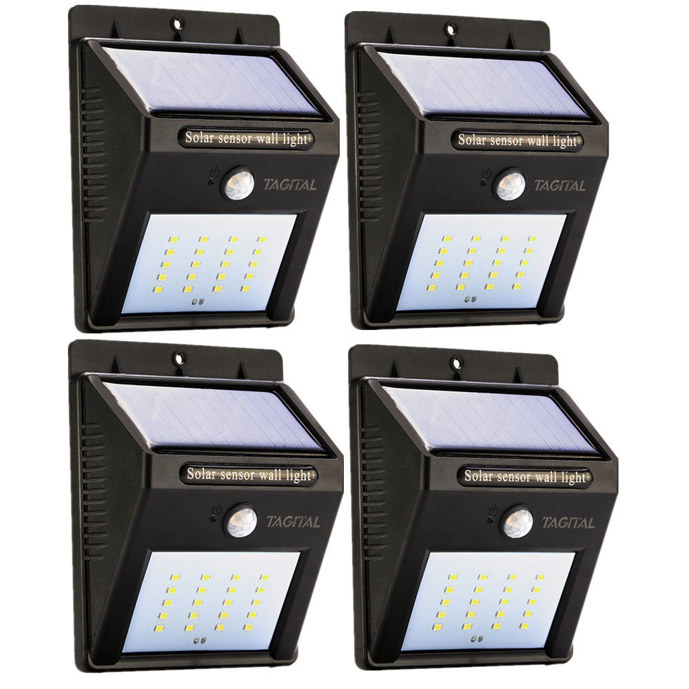Solar LED Lights 20 LED Wireless Waterproof Motion Sensor Outdoor Light for Patio, Deck, Yard, Garden with... by Tagital