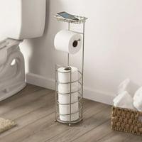 Better Homes & Gardens Freestanding Satin Nickel Toilet Paper Reserve