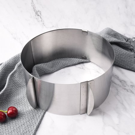 Cheers 6-12inch Retractable Stainless Steel Circle Mousse Cake Ring DIY Baking Tool - image 2 de 7