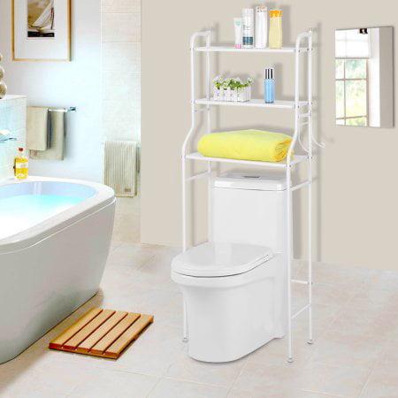 3 Tiers Bathroom Space Saver Towel Storage Rack Organizer White Iron ...