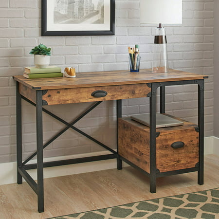 Better homes and gardens rustic country desk weathered for Better homes and gardens customer service telephone number