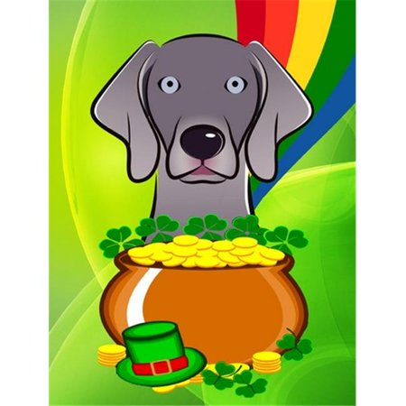 Weimaraner St. Patricks Day Flag Garden - image 1 of 1