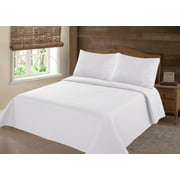 PERSIAN EYGYPTION COLLECTION QUEEN NENA WHITE SOLID CLOSOUT QUILT BEDDING BEDSPREAD COVERLET PILLOW CASES SET