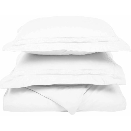 Superior Light Weight and Super Soft Brushed Microfiber, Wrinkle Resistant Duvet Cover with Regal Embroidered Pillow Shams ()