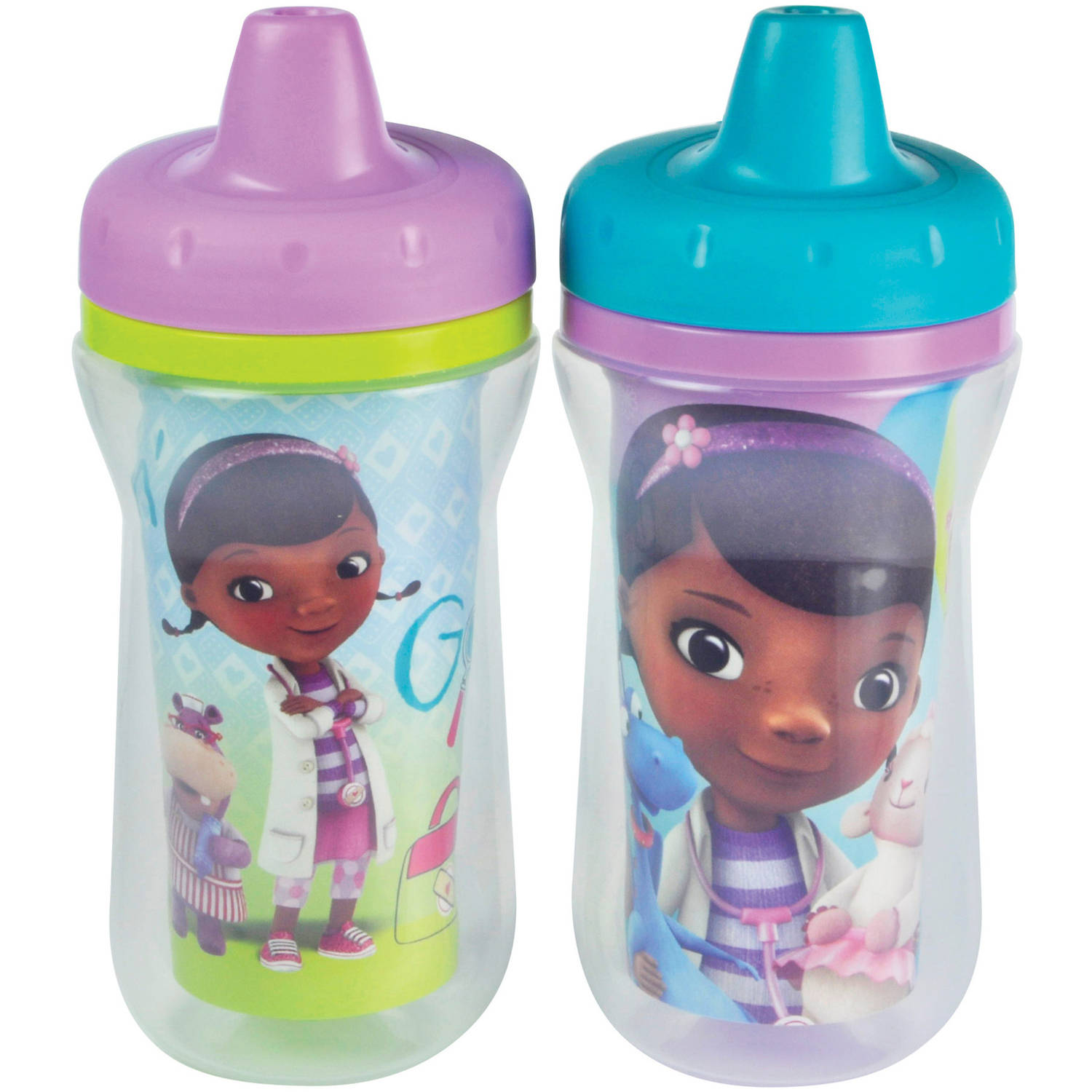 The First Years Disney Junior Doc McStuffins Insulated Sippy Cup, BPA-Free, 9 oz, 2pk