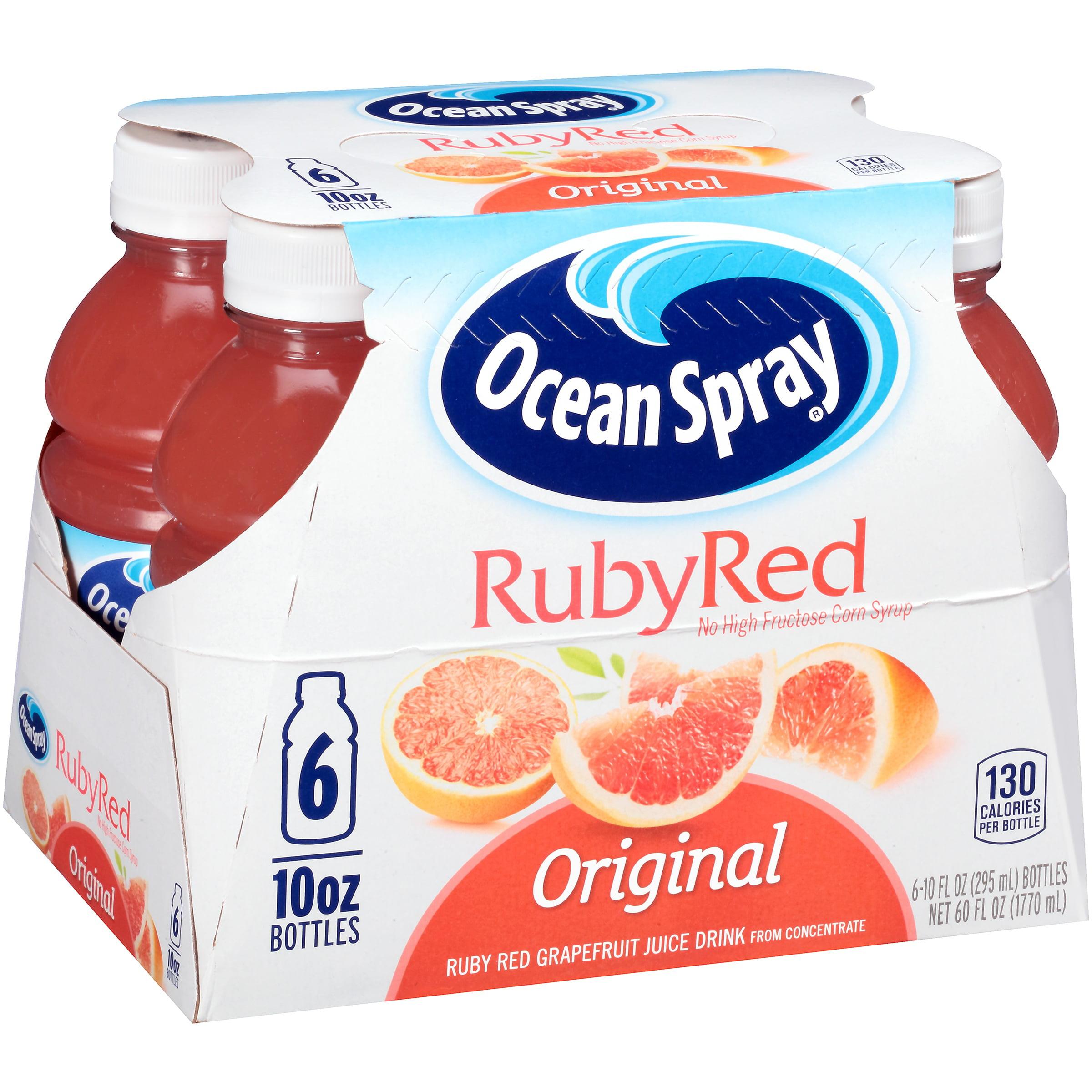 Ocean Spray Original Ruby Red Grapefruit Juice Drink, 10 fl oz, 6 count