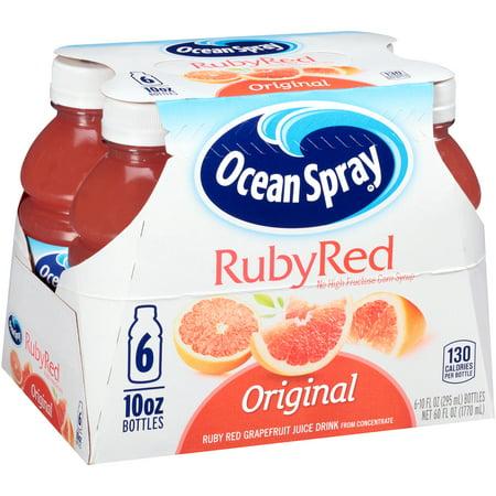 Ocean Spray Fruit Juice, Ruby Red Grapefruit, 10 Fl Oz, 6 Count