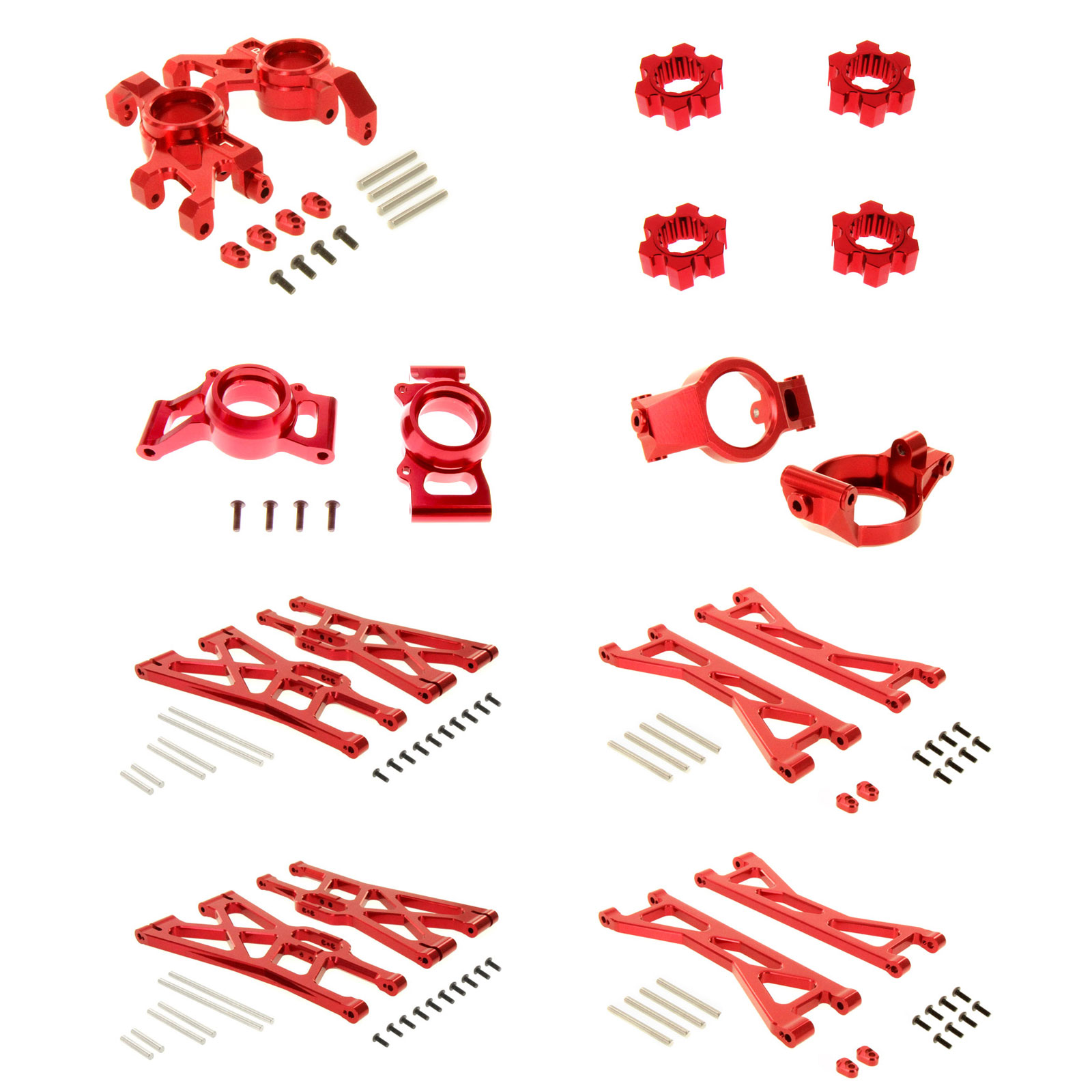 Traxxas X-Maxx Ultimate Alloy Upgrade Kit by Atomik RC - Red