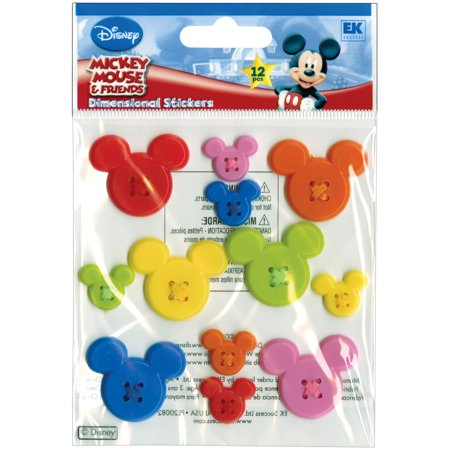 Disney Adhesive Buttons-Mickey Icon