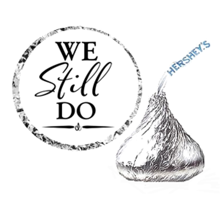216ct We Still Do Hershey's Kisses Party Favor Hershey's Kisses Stickers / Labels Hershey Kiss Stickers