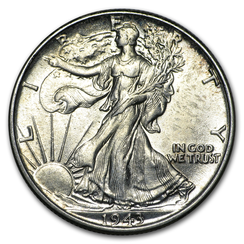1943-S  Walking Liberty Half  Dollar AV Circulated Condition...FREE SHIPPING...