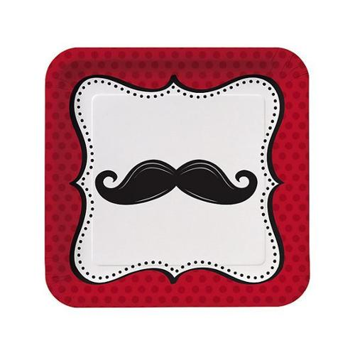 Mustache Madness Luncheon Plates (8 Count) - Party Supplies
