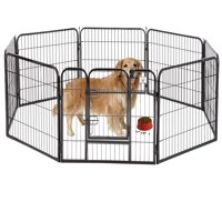 "BestPet Black 40"" 8 Panel Heavy Duty Pet Playpen Dog Exercise Pen Cat Fence"