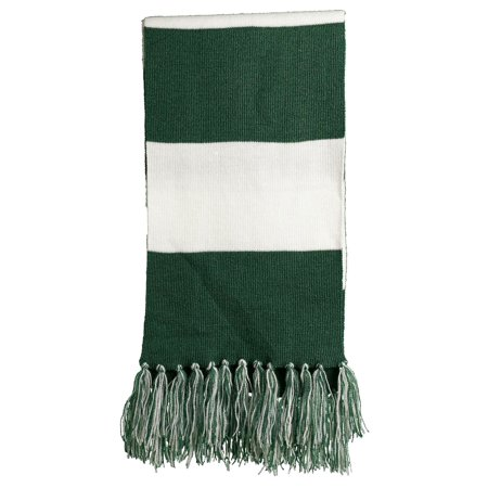 Sport-Tek Favorite Team Spectator Fringed Scarf (Navy Blue Team Scarf)