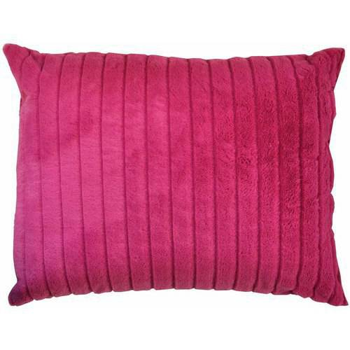 Your Zone Channel Fur Pillow, 1 Each