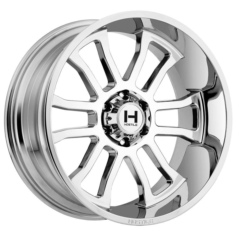 "22"" Inch Hostile H107 Gauntlet 22x10 8x180 -25mm Chrome Wheel Rim"