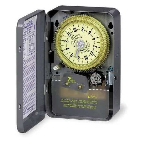 Intermatic Electromechanical Timer, 24-Hour, Multioperation, T1905E