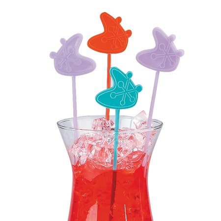 Fun Express - Rockin 50's Stir Sticks (25pc) for Party - Party Supplies - Serveware & Barware - Picks & Stirrers & Parasols - Party - 25 Pieces