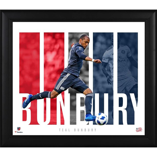 "Teal Bunbury New England Revolution Framed 15"" x 17"" Player Panel Collage"