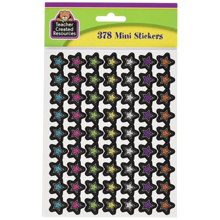 - Chalkboard Brights Stars Mini Stickers, 378 stickers per pack By Teacher Created Resources