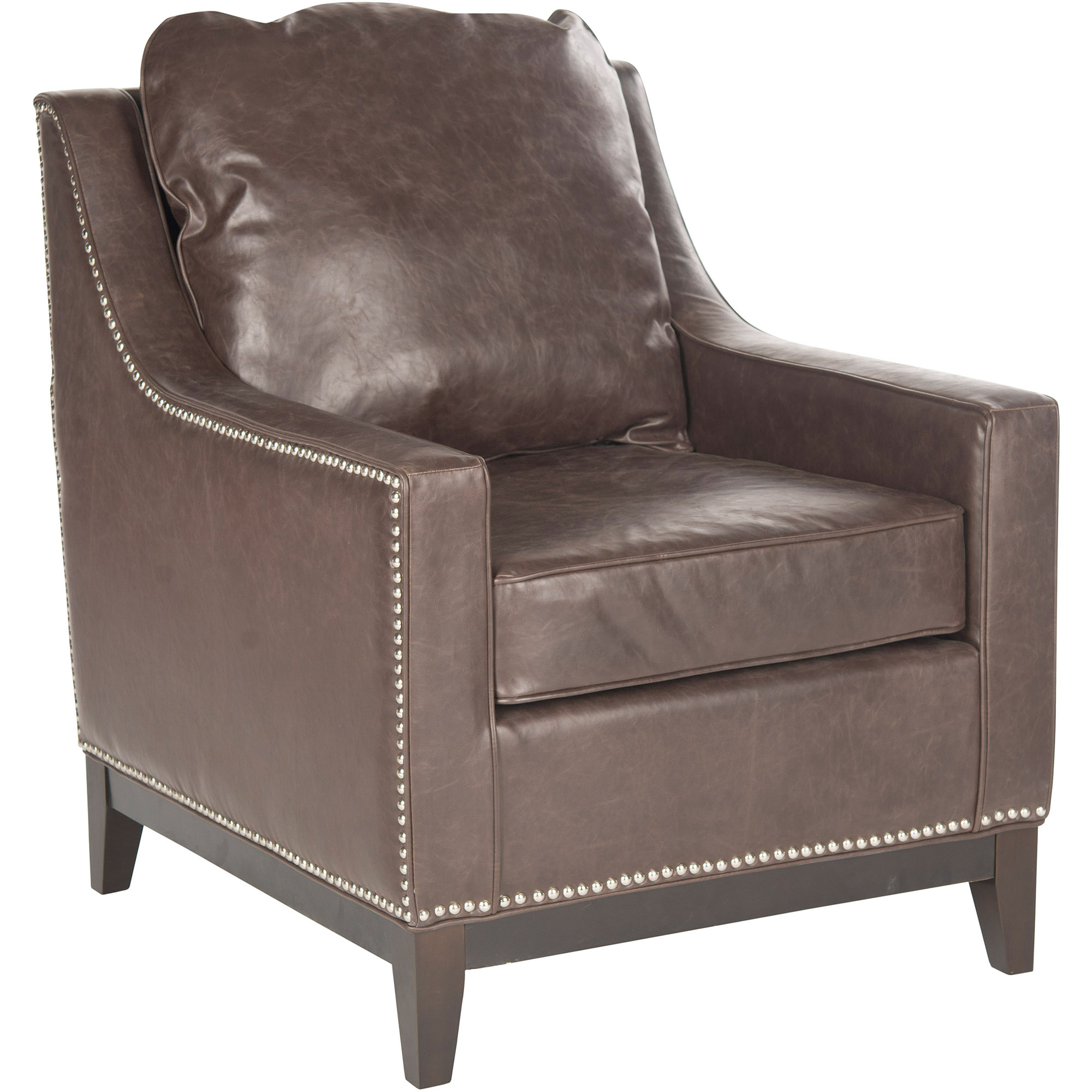 Safavieh Colton Bicast Leather Club Chair, Antique Brown