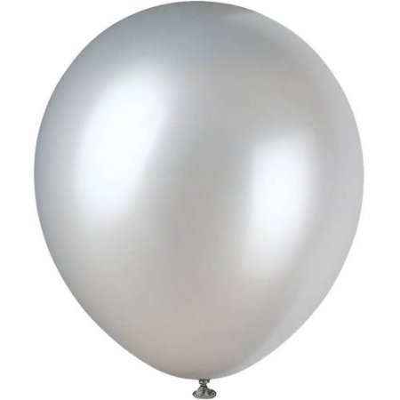 (4 Pack) Pearlized Latex Balloons, 12 in, Silver, 8ct](Balloons Silver)