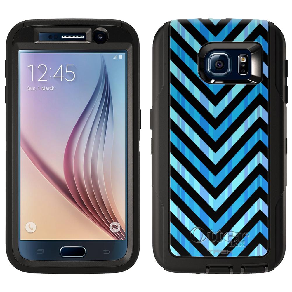 OtterBox Defender Samsung Galaxy S6 Case - Blue Striped Chevrons Black OtterBox Case