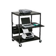"Bretford Interactive Learning Center ECILS1-BK - Cart for projector ( rack ) - steel - black - screen size: up to 25"" - floor-standing"