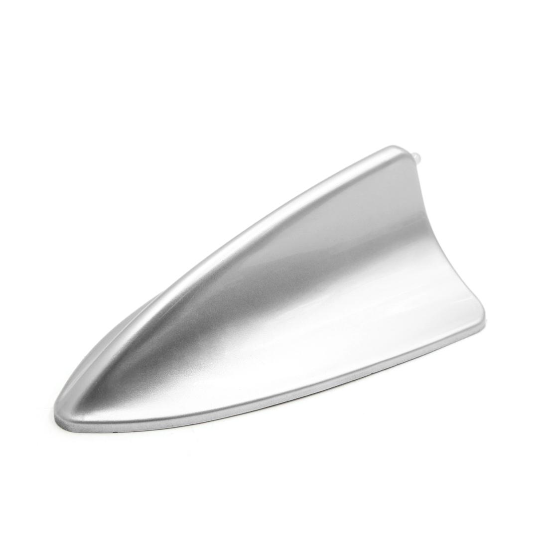 Universal Auto Car Silver Tone Plastic Shark Fin Roof Decorative Antenna Aerial
