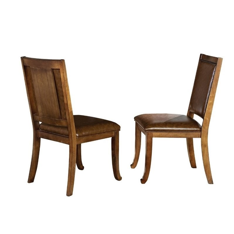 Steve Silver Ashbrook Dining Chair in Oak (set of 2)