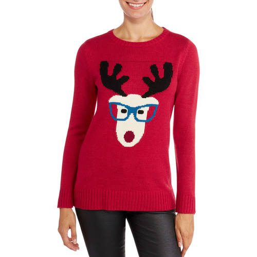 NYC Alliance Women's Rudolf Pullover Christmas Sweater