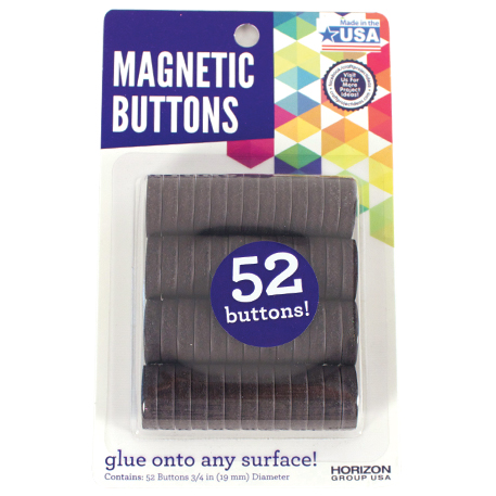 Magnetic Buttons, 52ct. by Horizon Group USA