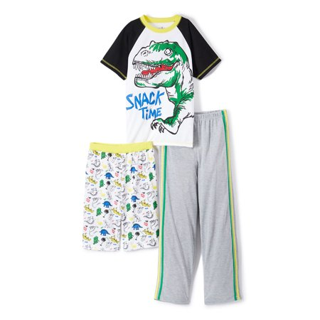 Boys' Snack Time 3 Piece Pajama Sleep Set (Little Boy & Big Boy) - Banana In Pajamas Halloween