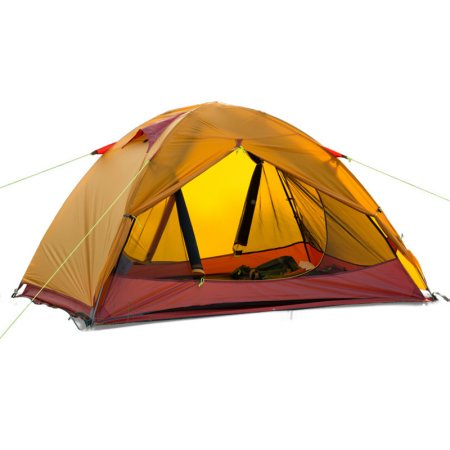 Double Layer Silicone Coating Fabric Backpacking Tent, Waterproof
