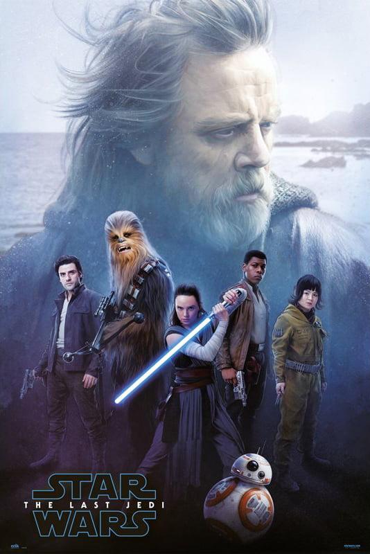 THE LAST JEDI Movie Poster Film Print STAR WARS EPISODE VIII