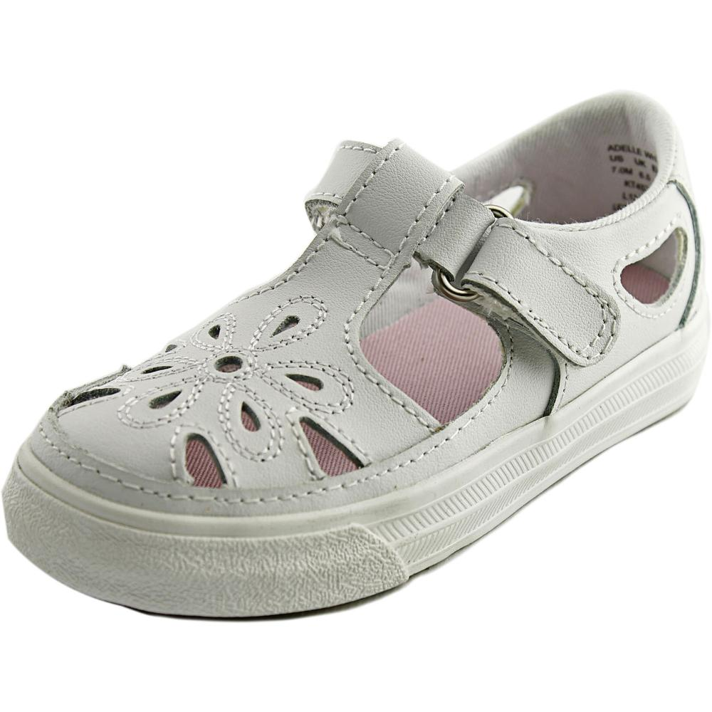 Keds Adelle Toddler  Round Toe Leather White Sneakers