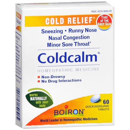 Boiron Coldcalm Homeopathic Cold Medicine 60.0 ea(pack of 12)