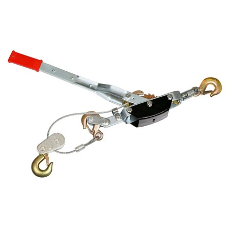 GHP 5-Ton Rated Capacity 12-Ft Zinc Plated Come Along Ratchet Hand Cable Winch Puller ()