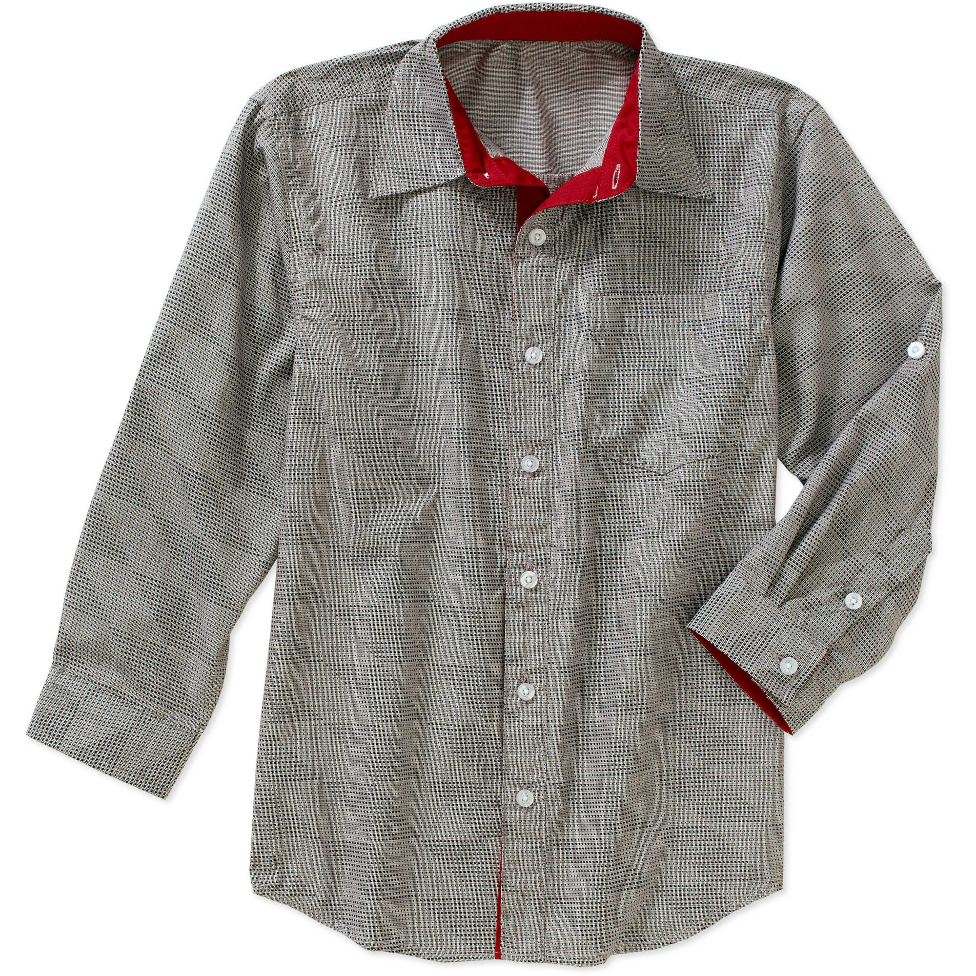 American Hawk Boys' Long Sleeve Woven Shirt