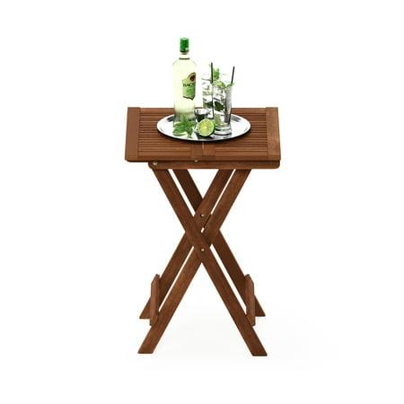Furinno Tioman Hardwood Folding Table in Teak Oil ()