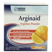 Arginaid Arginine Powder Supplement, Orange, 9.2 Gram Packet, by Nestle - Box of 14