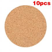 Jeobest 10PCS Plain Round Cork Coasters Coffee Drink Tea Cup Mat Placemats Wine Table Mat MZ