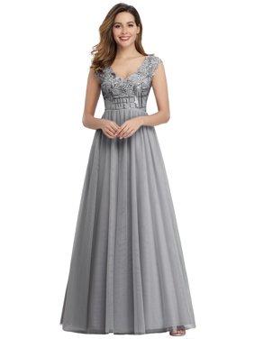 Ever-Pretty Women's Elegant V-Neck Formal Evening Dresses for Women 00984 US4
