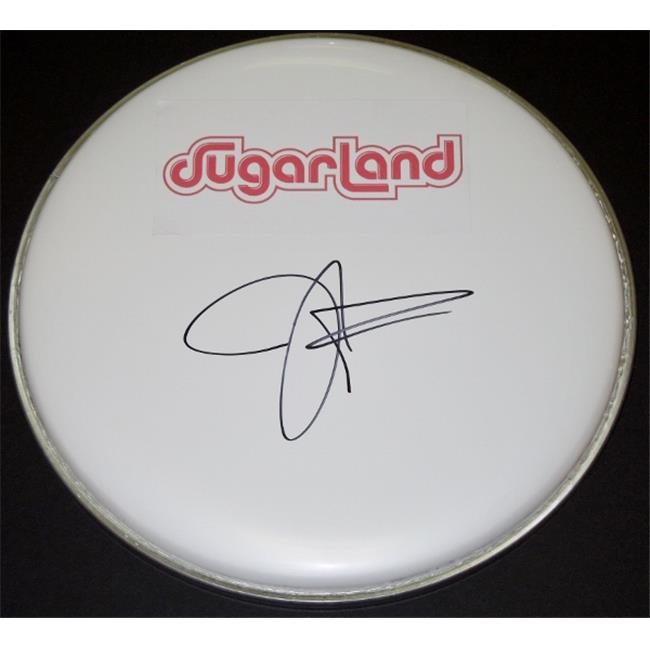 Jennifer Nettles Autographed Drum Head with Sugarland Logo Sticker