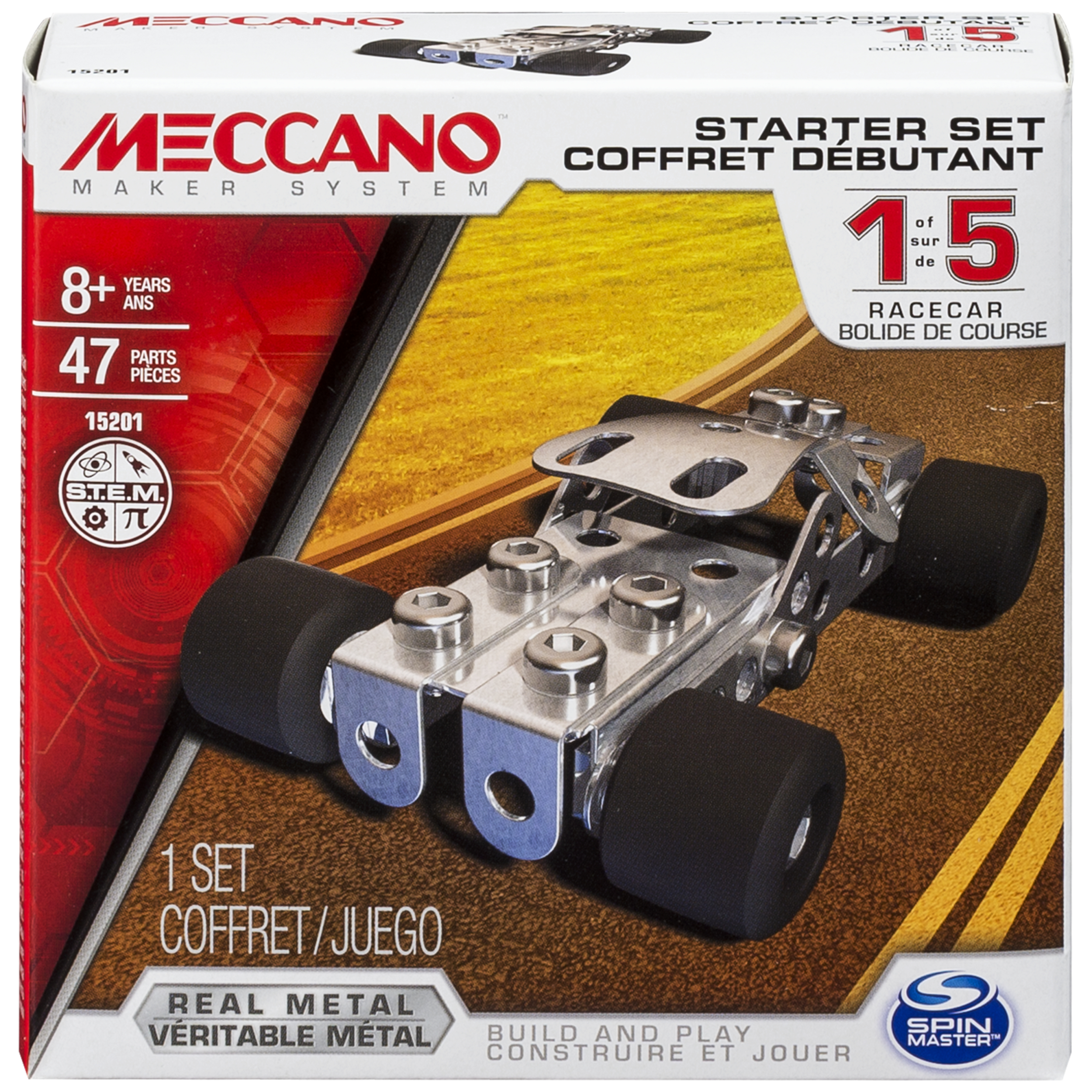 Meccano by Erector, Starter Set, Race Car Model Kit